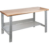 "FF690 Workbenches (laminated wood tops)  36""W x 60""L x 34"