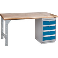 "FG265 Workbenches (laminated wood tops) 24""Wx60""Lx34""H"