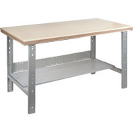 "FF712 Workbenches (shop grade wood tops) 30""Wx60""Lx34""H"