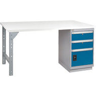 "FH892 Workbenches (laminated plastic tops) 24""Wx60""Lx34""H"