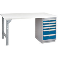 "FH899 Workbenches (laminated plastic tops) 36""Wx60""Lx34""H"