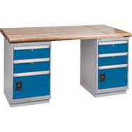 "FG233 Workbenches (laminated wood tops) 24""Wx60""Lx34""H"