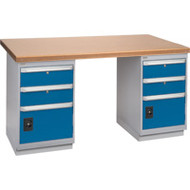 "FH905 Workbenches (shop grade wood tops) 36""Wx60""Lx34""H"