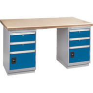 "FG246 Workbenches (shop grade wood tops) 30""Wx60""Lx34""H"