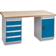 "FH902 Workbenches (shop grade wood tops) 24""Wx60""Lx34""H"