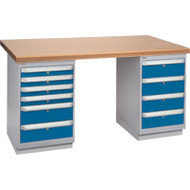 "FH909 Workbenches (shop grade wood tops) 36""Wx60""Lx34""H"