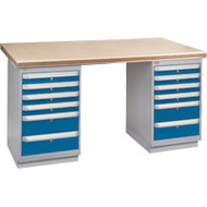 "FH922 Workbenches (shop grade wood tops) 24""Wx60""Lx34""H"