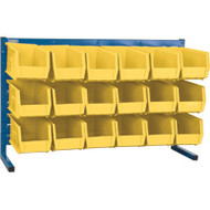 "CB156 LOUVERED Bench Racks/YELLOW bins 5 1/2""W x 10 7/8""D x 5""H"