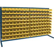 "CB174 LOUVERED Bench Racks/YELLOW bins 4 1/8""W x 7 3/8""D x 3""H"