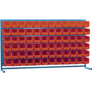 "CB176 LOUVERED Bench Racks/RED bins 5 1/2""W x 10 7/8""D x 5""H"