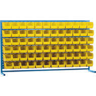 "CB177 LOUVERED Bench Racks/YELLOW bins 5 1/2""W x 10 7/8""D x 5""H"