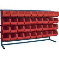 "CB185 LOUVERED Bench Racks/RED bins 8 1/4""W x 14 3/8""D x 7""H"