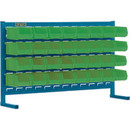 "CF361 LOUVERED Bench Racks/GREEN bins 4 1/8""W x 7 3/8""D x 3""H"