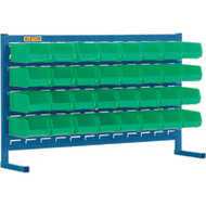 "CF359 LOUVERED Bench Racks/GREEN bins 4 1/8""W x 5 3/8""D x 3""H"