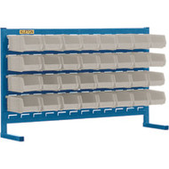 "CF360 LOUVERED Bench Racks/STONE bins 4 1/8""W x 5 3/8""D x 3""H"