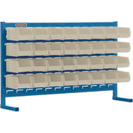 "CF362 LOUVERED Bench Racks/STONE bins 4 1/8""W x 7 3/8""D x 3""H"