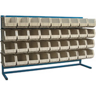 "CF370 LOUVERED Bench Racks/STONE bins 8 1/4""W x 14 3/8""D x 7""H"