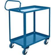 ML561 Shelf Carts HD Ergonomic 2 shelves (rubber casters) Starting At