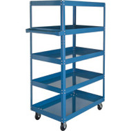 "MN159 Shelf Carts 5 shelves 24""Wx36""Dx61""H"