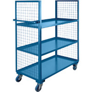 Utility Carts Wire Mesh Utility (Rubber Casters) 2 Sides/3 Shelves Starting at