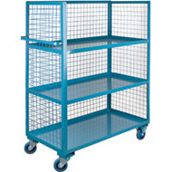 Utility Carts Wire Mesh Utility (Rubber Casters) 3 Sides/3 Shelves Starting at