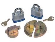 DC291 Steel Drum Locks Keyed alike