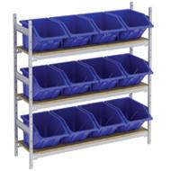 "RL985 Shelving (w/12 BLUE plastic bins)  66""Wx18""Dx60""H"