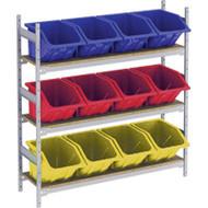 "RL988 Shelving (3 shelves/3 colors)  66""Wx18""Dx60"