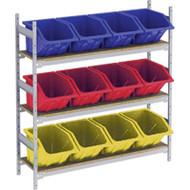 "RL988 Shelving (3 shelves/3 colors)  66""Wx18""Dx60"