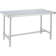 """FI393 Workbenches (SS/H-Frame) 96""""Wx30""""Dx34""""H"""