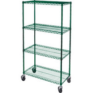 "RL804 Epoxy Shelf Carts (4-shelf) 48""Wx18""Dx74""H"