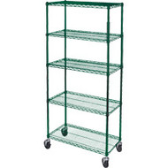 "RL811 Epoxy Shelf Carts (5-shelf) 60""Wx18""Dx86""H"