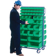 "CB683 Racks GREEN Bins 36""Wx24""Dx63""H"