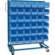 "CB650 Racks BLUE Bins 36""Wx16""Dx52""H"