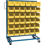 "CB652 Racks YELLOW Bins 36""Wx16""Dx52""H"