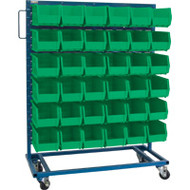 "CB681 Racks GREEN Bins 36""Wx16""Dx52""H"