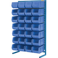 "CB654 Racks BLUE Bins 36""Wx12""Dx61""H"