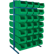 "CB687 Racks GREEN Bins 36""Wx24""Dx61""H"