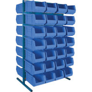 "CB370 Racks BLUE Bins 36""Wx24""Dx61""H"