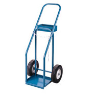 "ML414 Gas Cylinder Carts 10"" semi-pneu 12""Wx10""D"