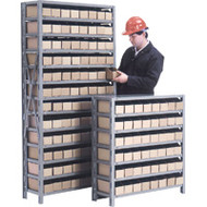 "CF054 Shelving (w/96 RED plastic bins) 36""Wx12""Dx76""H"