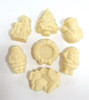 Assorted white chocolate Christmas shapes