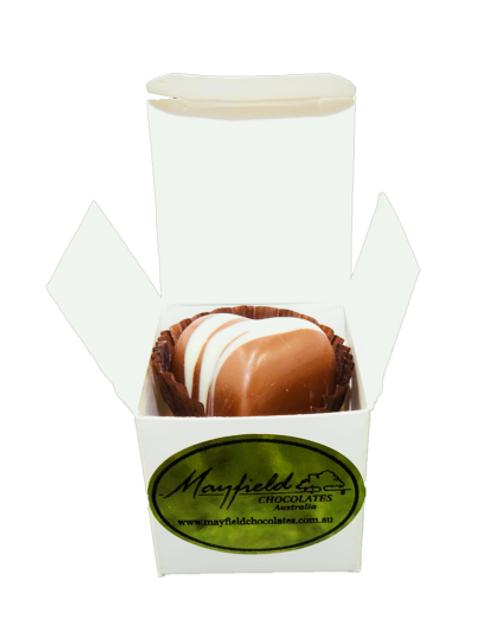 White box - 1 chocolate $2.50
