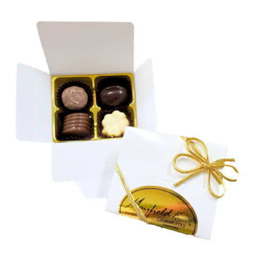 White box - 4 chocolates $9.50