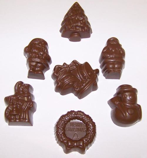 Assorted milk chocolate Christmas shapes