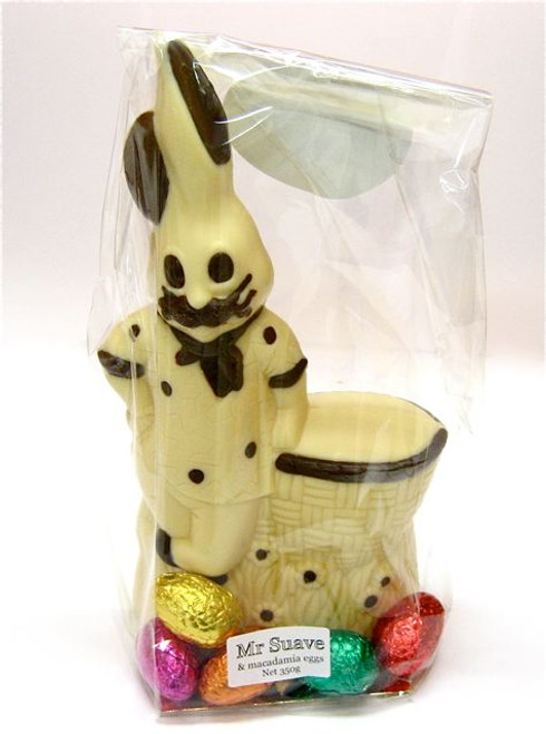 """""""Mr. Suave"""" hollow bunny white chocolate -235mm- $30.50"""