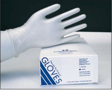 Lithco Shur-Fit Disposable Vinyl Gloves, Case (10 Boxes of 100 Pairs) Large