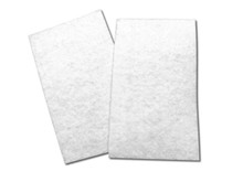 "Flat White Poly Fibrous Media, 18-1/2"" X 10"" x 3/4"", Dozen (12)"