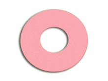 "Bag of 25 Flat Pink Rubber Sucker, 1-1/2"" x X 7/16"" X 1/32"""