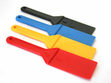 "Plastic Ink Knives, 2-3/4"" Wide x 10-1/2"" Long,  Box (4)  Red, Yellow, Black, Blue."